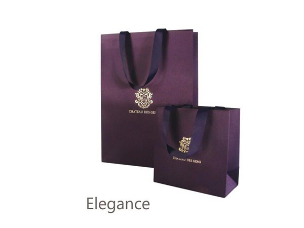 Purple Silk Cloth Paper Bag