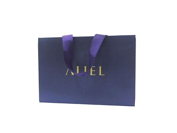 Dark Purple Silk Cloth Paper Bag