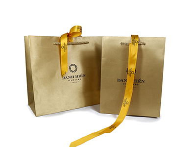 Yellow Satin Cloth Paper Bag