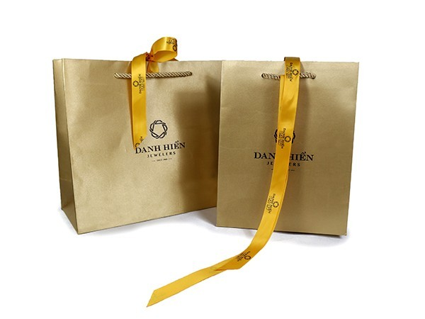Yellow Satin Cloth Paper Bag