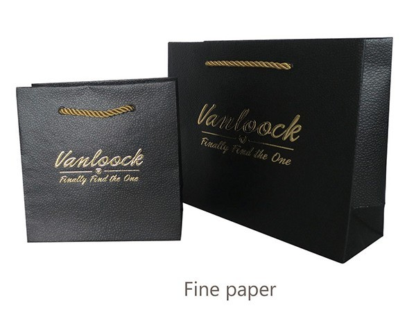 Black Pearl Shell Pattern Paper Bag