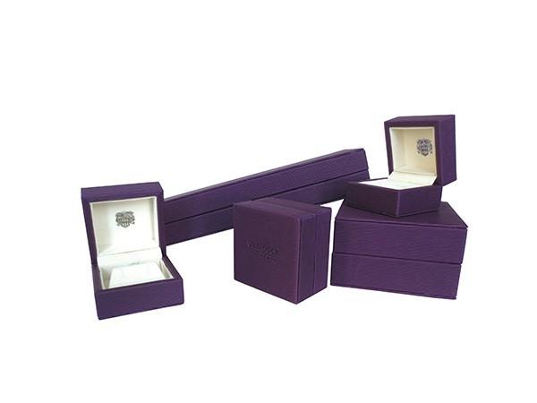 Dark Purple Color Fine Jewelry Boxes