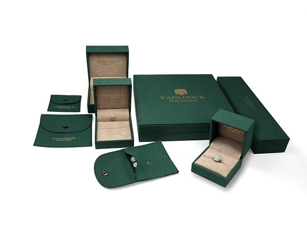 Fine Jewelry Boxes with Microfiber Covering