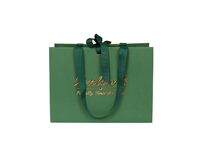 Green Special Paper Bag with Texture