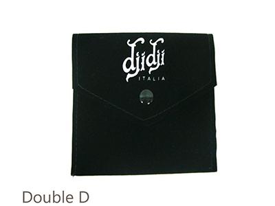 Dark Green Double Velvet Pouch