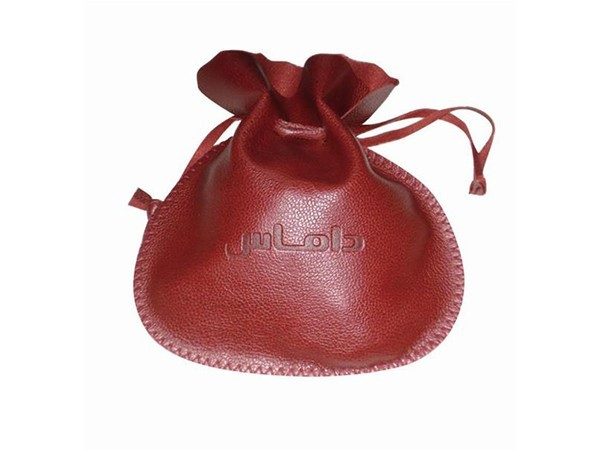 Red PU Pouch with Round Shape