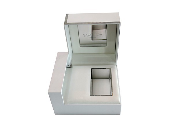 Watch Box with White Art Paper covered outside