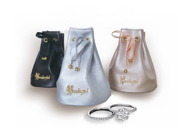 Luxury and Popular Bucket Shape Jewelry Pouch