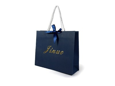 Blue Special Paper Bag with Texture