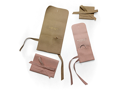 Microfiber Mini Jewelry Pouch