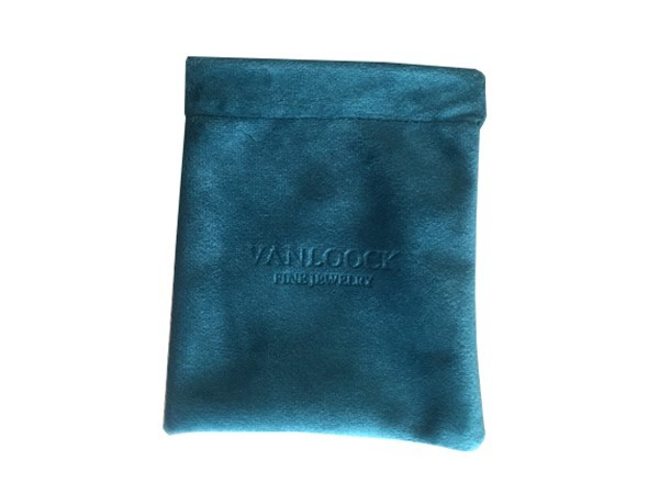 Shiny Velvet Jewelry Pouch with Special Opening