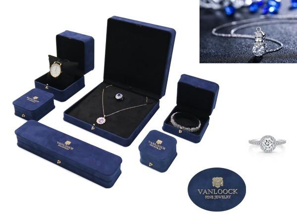 Soft suede Jewellery box