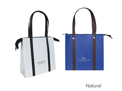 Kraft  Paper Bag with Zipper Closure