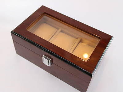 Wooden Box with PVC Window