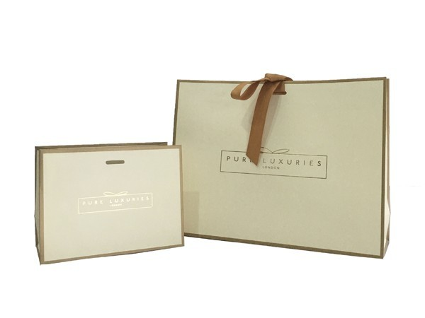 white card with frame printing gift bag