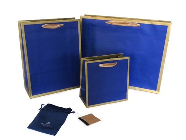 art paper with gold frame printing gift bag