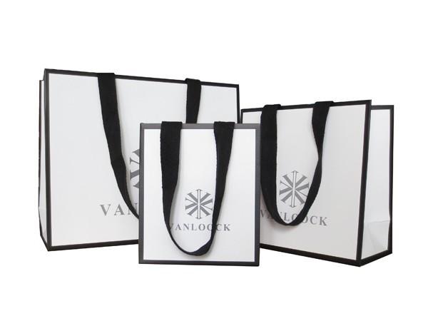 art paper black frame gift bag