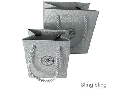 glitter jewellery gift bag